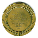 Newman Medal Back
